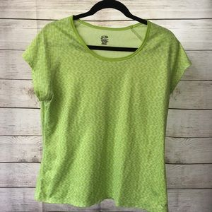 Champion Lime Green Moisture Wicking Workout Tee